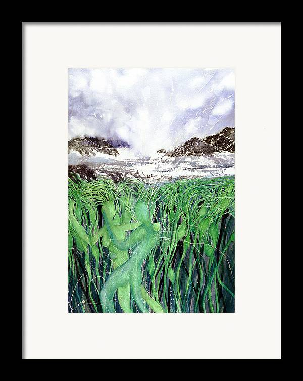 Romantic Framed Print featuring the painting Arturo And Katarina by Cory Calantropio
