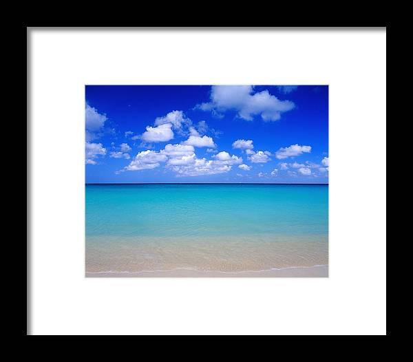 Aruba Framed Print featuring the photograph Aruba Sky And Sea by Robert Ponzoni