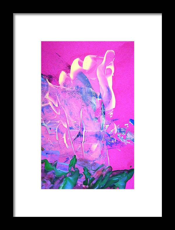 Magenta Framed Print featuring the painting As I Walked Out One Evening by Bruce Combs - REACH BEYOND