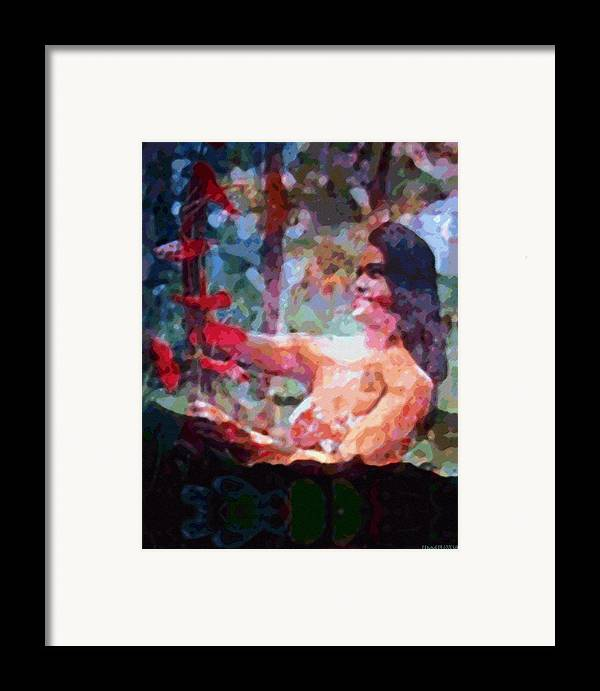 Rainbow Colors Digital Framed Print featuring the photograph As If by Kenneth Grzesik