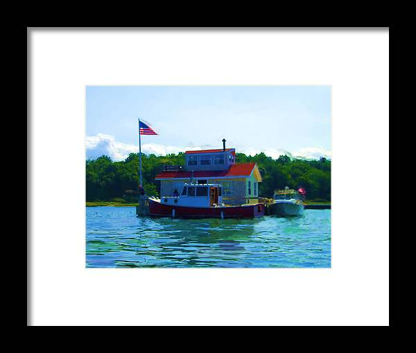 Our Bronx New York City House Boat Framed Print featuring the painting As Seen On National American Express Tv Commerica by Jonathan Galente