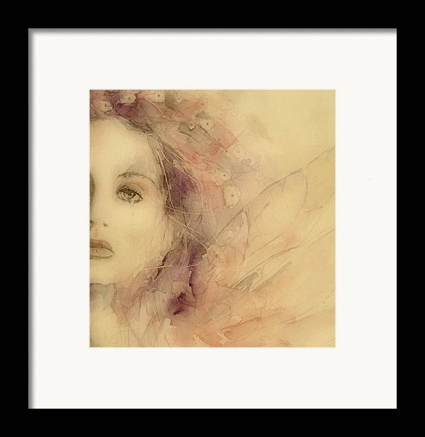Marianne Faithfull British Framed Print featuring the painting As Tears Go By by Paul Lovering