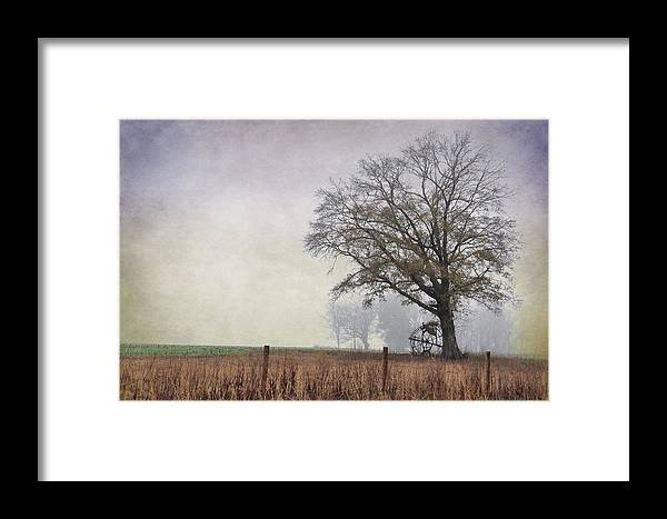 Landscapes Framed Print featuring the photograph As The Fog Sets In by Jan Amiss Photography