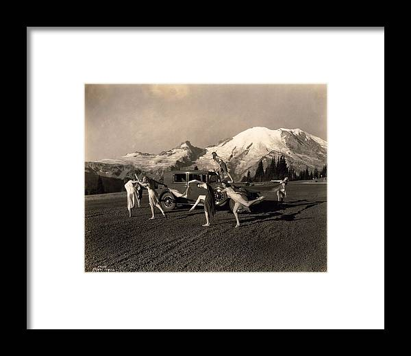 Nature Framed Print featuring the painting Asahel Curtis, 1874-1941, Dancing Girls At Sunrise by Asahel Curtis