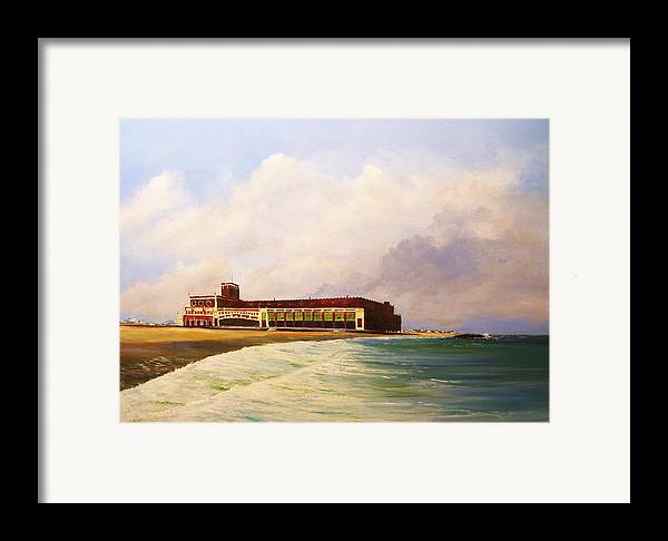 Asbury Park Framed Print featuring the painting Asbury Park Convention Hall by Ken Ahlering