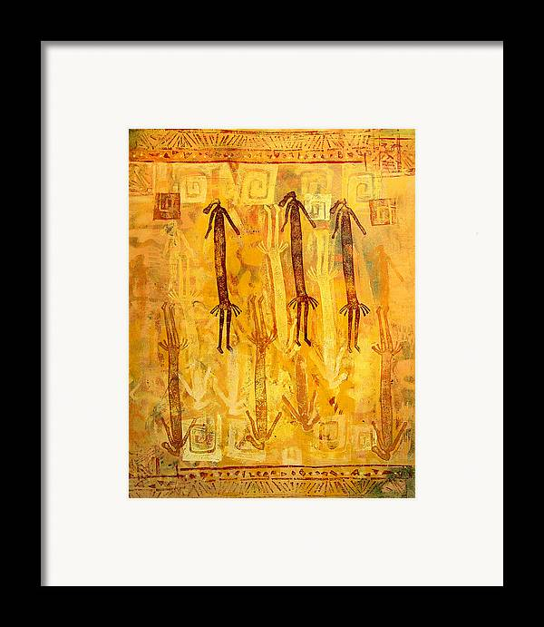 Ethnic Framed Print featuring the painting Ascendants And Descendants by Dale Witherow