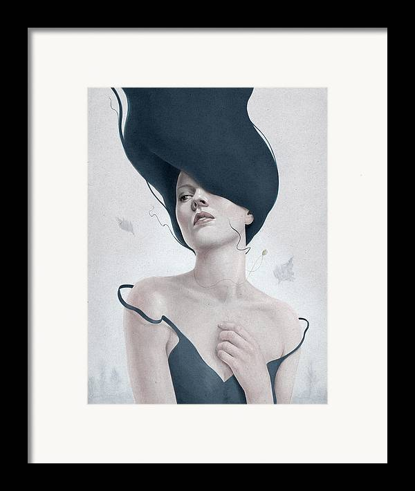 Woman Framed Print featuring the digital art Ascension by Diego Fernandez