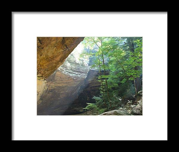 Photograph Framed Print featuring the photograph Ash Cave by Mindy Newman
