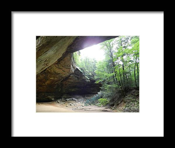 Ash Cave Framed Print featuring the photograph Ash Cave by Richard Greiner
