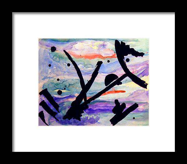 Abstract Framed Print featuring the painting Asian Impression by Steve Karol