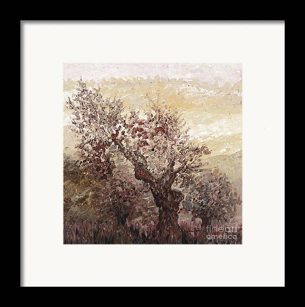 Landscape Framed Print featuring the painting Asian Mist by Nadine Rippelmeyer