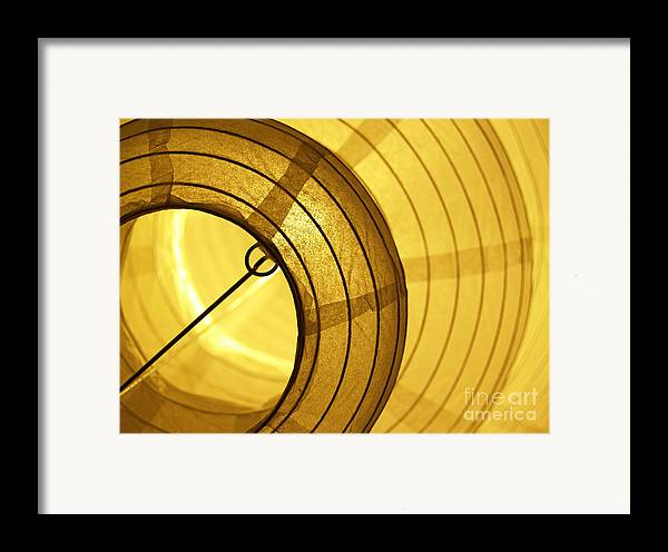 Lantern Framed Print featuring the photograph Asian Paper Lantern From Below by Anna Lisa Yoder