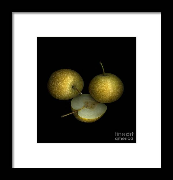 Culinary Framed Print featuring the photograph Asian Pears by Christian Slanec