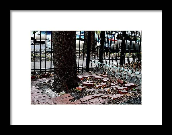 Bricks Framed Print featuring the photograph Askew by Margaret Fronimos