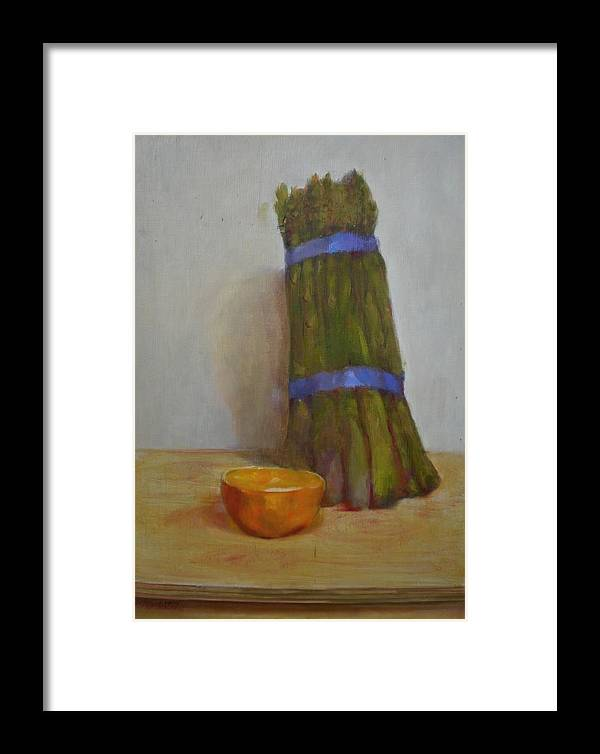 Impressionist Framed Print featuring the painting Asparagus  Copyrighted by Kathleen Hoekstra