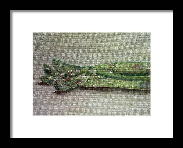 Food Framed Print featuring the painting Asparagus by Sarah Lynch