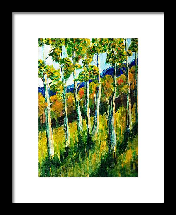 Aspen Framed Print featuring the painting Aspen Highlands by Randy Sprout