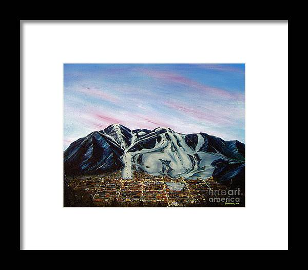 Aspen Framed Print featuring the painting Aspen by Jerome Stumphauzer