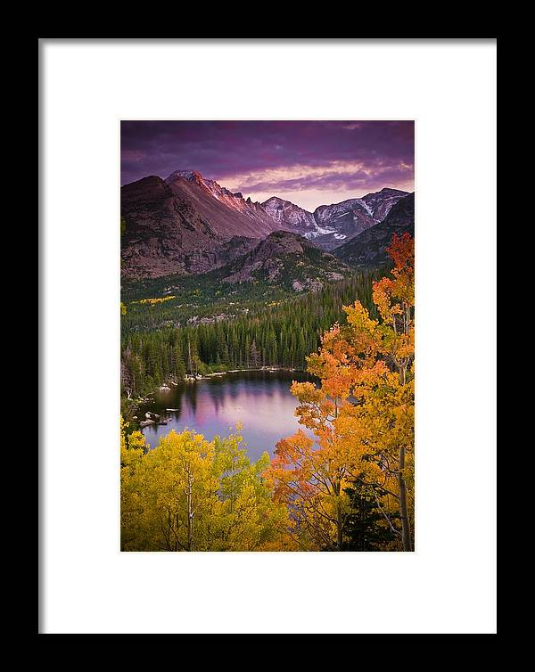All Rights Reserved Framed Print featuring the photograph Aspen Sunset Over Bear Lake by Mike Berenson