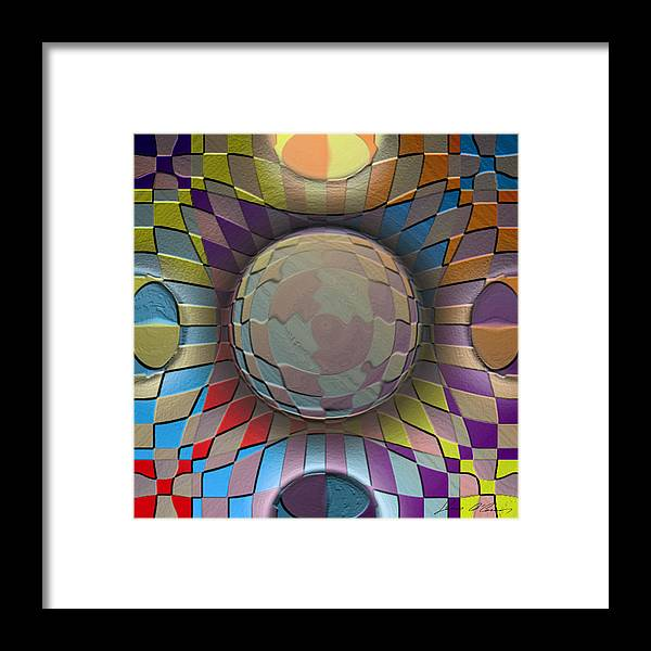 Abstract Digital Art Framed Print featuring the painting Aspire by Sean OConnor