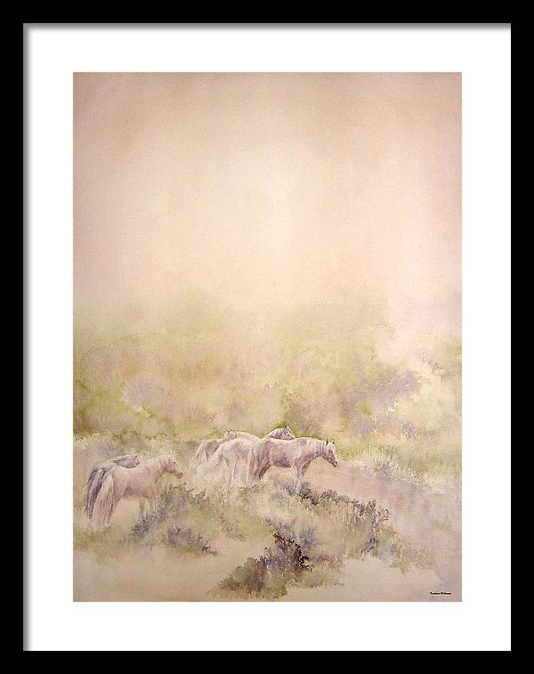 Horses Framed Print featuring the painting Assateague Ponies by Barbara Widmann