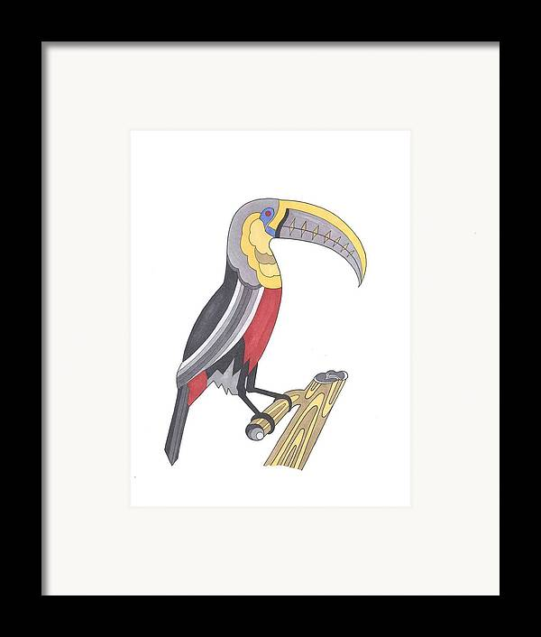 Toucan Framed Print featuring the mixed media Assignment 13 by David Seter