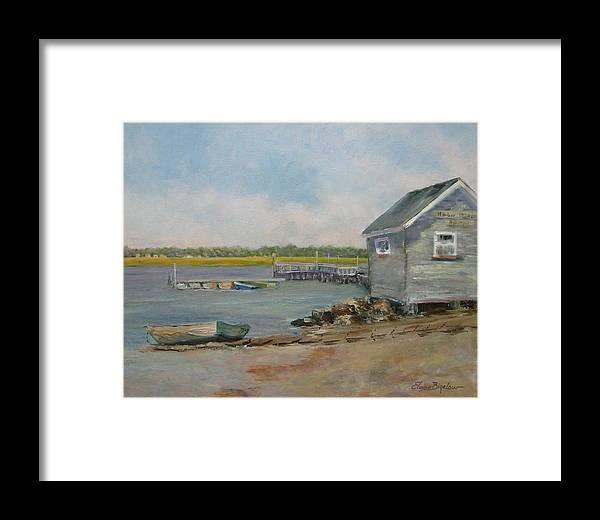 Framed Print featuring the painting Assistant Harbor Master by Elaine Bigelow
