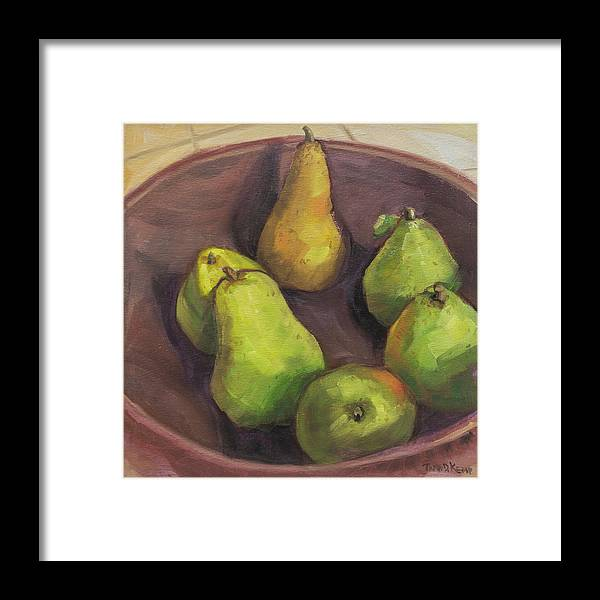 Oregon Framed Print featuring the painting Assorted Pears by Tara D Kemp