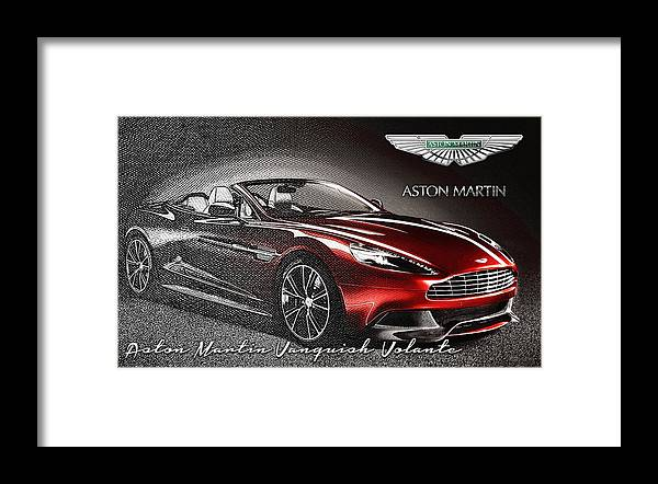 �wheels Of Fortune� Collection By Serge Averbukh Framed Print featuring the photograph Aston Martin Vanquish Volante by Serge Averbukh