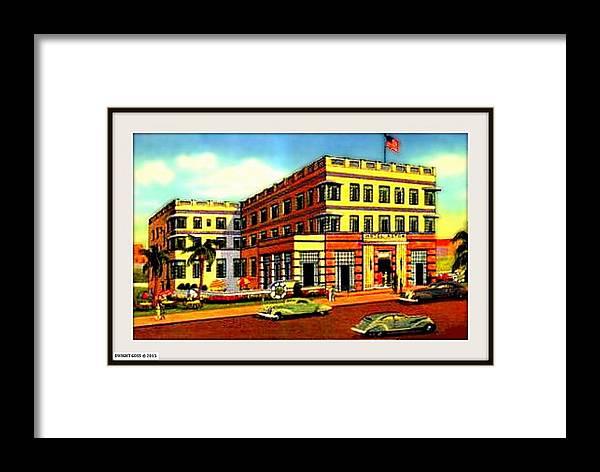 Miami Beach Fl Framed Print featuring the mixed media Astor Hotel, Miami Beach Fl, 1938 by Dwight GOSS