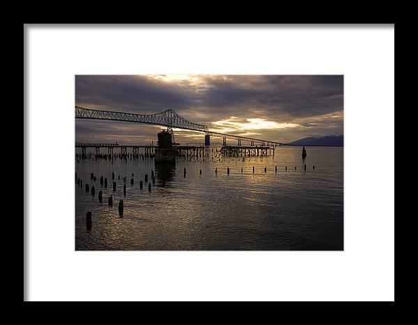 Landscape Framed Print featuring the photograph Astoria-megler Bridge 2 by Lee Santa