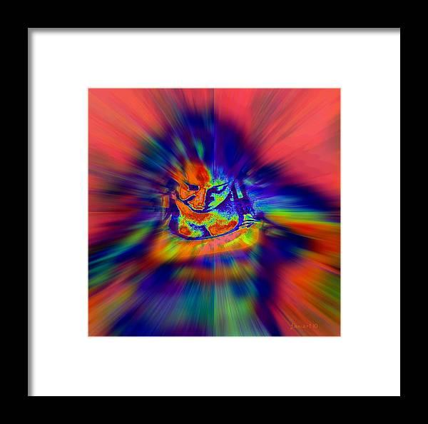Fania Simon Framed Print featuring the digital art Astral Flight While Awake by Fania Simon