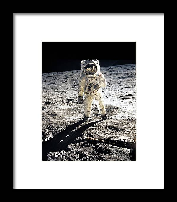 Apollo Framed Print featuring the photograph Astronaut by Photo Researchers