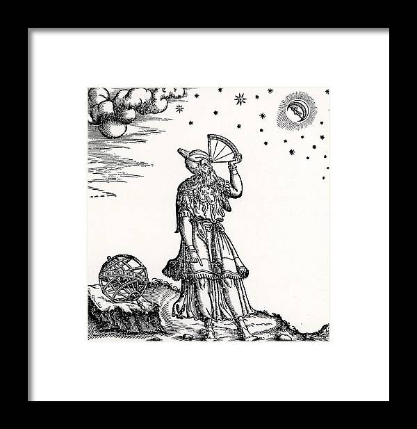Astronomer Framed Print featuring the drawing Astronomer, Probably Ptolemy Of Alexandria by Venetian School