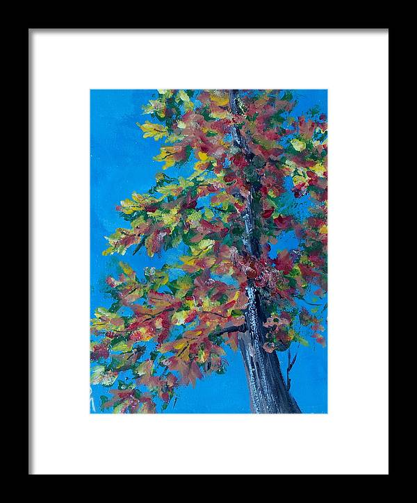 Tree Framed Print featuring the painting Asymmetree by Pete Maier