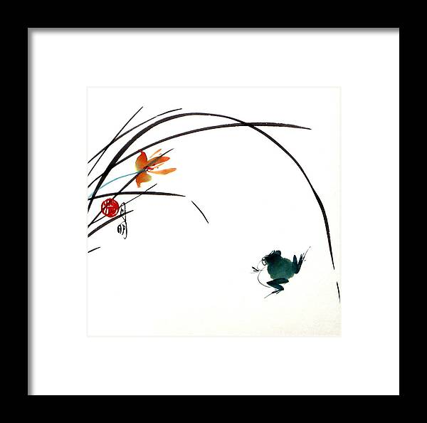 Chinese Painting Framed Print featuring the painting At Gaze by Ming Yeung