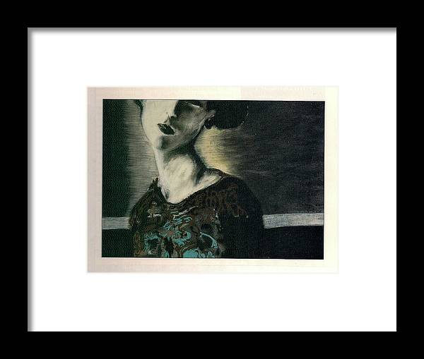 Female Framed Print featuring the drawing At Her Gaze by Mykul Anjelo