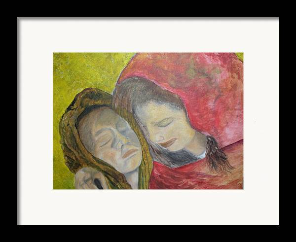 New Artist Framed Print featuring the painting At Last They Sleep by J Bauer