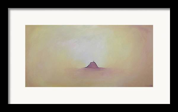 Abstract Framed Print featuring the painting At Peace by Bojana Randall