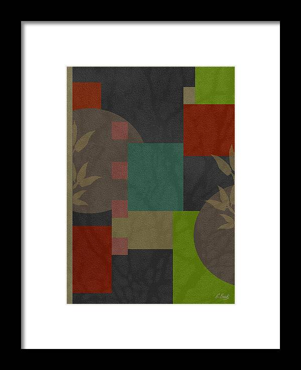 Contemporary Abstract Design Asian Gordon Beck Art Framed Print featuring the painting At Peace by Gordon Beck
