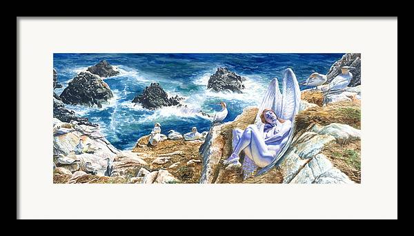 Women Framed Print featuring the painting At Rest by Ken Meyer jr