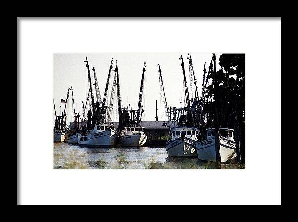 Landscape Framed Print featuring the photograph At Rest Watercolor by Michael Morrison