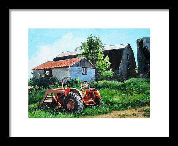 Farm Framed Print featuring the painting At Rest by William Brody