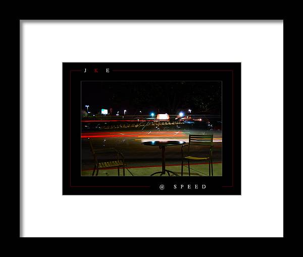 Starbucks Framed Print featuring the photograph At Speed by Jonathan Ellis Keys