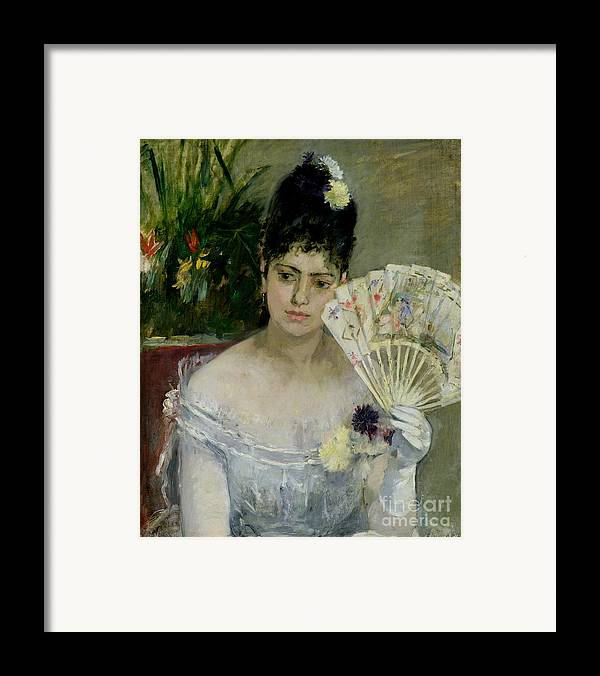 The Framed Print featuring the painting At The Ball by Berthe Morisot