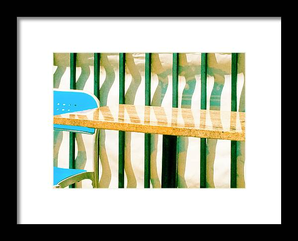 Blue Framed Print featuring the photograph At The Beach by Tom Vaughan