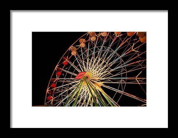 Ferris Wheel Framed Print featuring the photograph At The County Fair by Joe Kozlowski