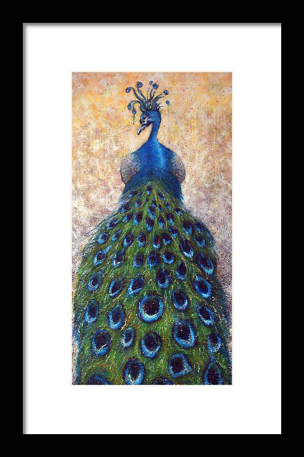 Peacocks Framed Print featuring the painting At The Gates by Mark M Mellon