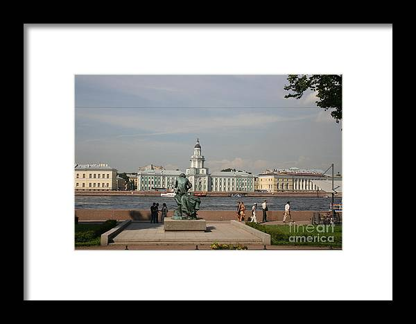 River Framed Print featuring the photograph At The Newa - St. Petersburg Russia by Christiane Schulze Art And Photography