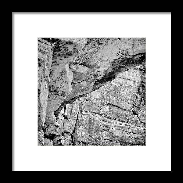 Metamorphic Quartzite Framed Print featuring the photograph At The Pinnacle by Patrick M Lynch